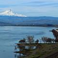 Mount Hood With Train by Lynn Hopwood
