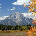 Mount Moran In Autumn by Larry Ricker