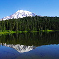 Mount Rainer Reflecting Into Reflection Lake by Jeff Swan