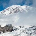 Mount Rainier Behind Clouds 3 by Greg Nyquist