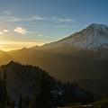 Mount Rainier Dusk Fallen by Mike Reid