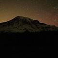 Mount Rainier Night Sky by Dan Sproul