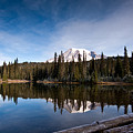 Mount Rainier Reflection by Mike Reid