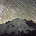 Mount Rainier Star Trails  by Michael Ver Sprill