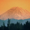 Mount Rainier, Sunset by Mike Penney