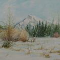 Mount Rundle In Winter by E Colin Williams ARCA
