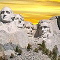 Mount Rushmore 11 Digital Art by Thomas Woolworth