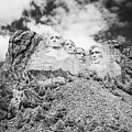 Mount Rushmore Black And White by Bryan Mullennix