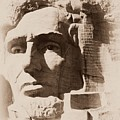 Mount Rushmore Faces Lincoln by Barbara Henry