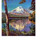 Mount Saint Helens Vintage Travel Poster Restored by Carsten Reisinger