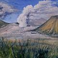 Mount Semeru Bromo And Batok Jawa Timor Indonesia 2008 by Enver Larney