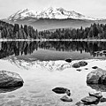 Mount Shasta From Lake Siskiyou In California by Jamie Pham