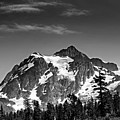 Mount Shuksan Black And White Cascade Mountains Washington by Brendan Reals