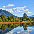 Mount Si Overlooks Mill Pond by David Coleman