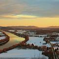 Mount Sugarloaf Winter Sunset by John Burk