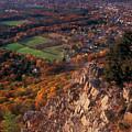 Mount Tom Ridge Autumn View by John Burk