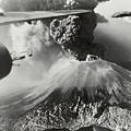 Mount Vesuvius Coughs Up Ash And Smoke by Us Army Air Forces Official