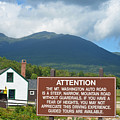 Mount Washington Nh Warning Sign by Toby McGuire