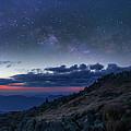 Mount Washington Summit Milky Way Panorama by Chris Whiton