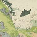 Mount Yoshino, Cherry Blossoms by Kobayashi Kiyochika