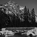Mountain And Bridge Black And White by Pelo Blanco Photo