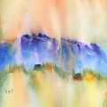 Mountain And Hill Abstract by Frank Bright