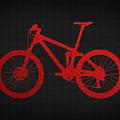 Mountain Bike - Red On Black by Serge Averbukh