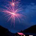 Mountain Fireworks Landscape by James BO  Insogna