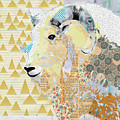 Mountain Goat Collage by Claudia Schoen
