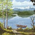 Mountain Lake by Don Lindemann