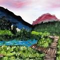 Mountain Lake Walk by Daniel Hogan