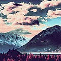 Mountain  Landscape Vista by Celestial Images