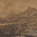 Mountain Landscape With A Hollow by Alexander Cozens