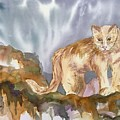 Mountain Lion On The Rocks  by Ellen Levinson