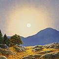 Mountain Meadow In Moonlight by Frank Wilson