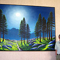 Mountain Moonglow Mural Winner Of The 2005 Coba Peoples Choice Award  by Frank Wilson