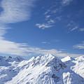 Mountain Panorama Lech Near St Saint Anton Am Arlberg Austria by Peter Barritt