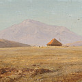 Mountain Plateau With Hut by Frederic Edwin Church