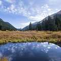 Mountain Pond And Sky by Joe Miller