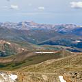 Mountain Range From Mount Evans Summit by Steve Krull
