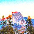 Mountain Range In Yosemite National Park by Jeelan Clark