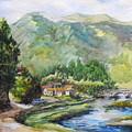 Mountain Retreat by Min Wang