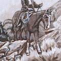 Mountain Ride Historical Vignette by Dawn Senior-Trask
