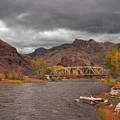 Mountain River Bridge by Grant Groberg