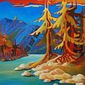Mountain Stream by Santo De Vita