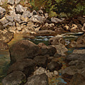 Mountain Stream With Boulders by Mountain Dreams