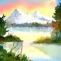 Mountain Sunset by Larry Hamilton