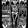 Mountain Town Skeleton by Katherine Nutt