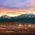 Mountain Twilight Of Reno Nevada by Vance Fox
