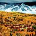 Mountain Village Autumn by David Lee Thompson